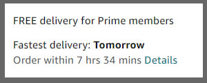 Delivery Tomorrow for Prime