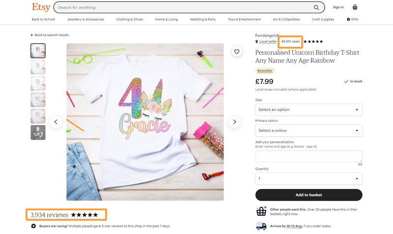 Etsy Tshirt Design Example for £100 a Day